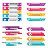 Infographic elements template business concept horizontal banners for presentation, brochure, website and other design project. Abstract infograph creative Royalty Free Stock Photos