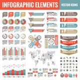 Infographic elements template collection - business vector Illustration in flat design style for presentation, booklet, website stock illustration