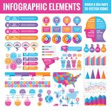 Infographic elements template collection - business vector illustration for presentation, booklet, website and other design. Stock Image