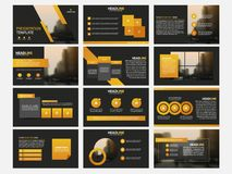 Infographic elements template flat design set for annual report brochure flyer leaflet marketing advertising. Banner template Stock Images
