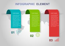 Infographic elements template on gray background. Can be used for business step options stock illustration