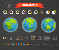 Infographic elements template. Statistic charts Stock Photography