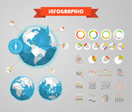Infographic elements template. Statistic charts Stock Photo