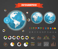 Infographic elements template. Statistic charts Royalty Free Stock Image