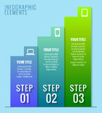 Infographic elements. Three steps to success. Vector illustration Stock Photos