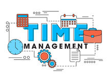 Infographic elements for Time Management. Royalty Free Stock Images