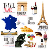 Infographic elements for traveling to France Royalty Free Stock Photos
