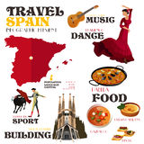 Infographic Elements for Traveling to Spain Royalty Free Stock Photos