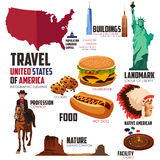 Infographic elements for traveling to USA Royalty Free Stock Photos
