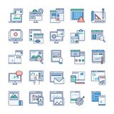 Infographic Elements about Web Development Flat Icons Pack stock illustration