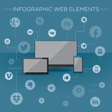 Infographic elements for web Royalty Free Stock Image