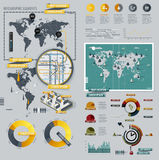 Infographic Elements with World Map Royalty Free Stock Photos