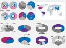 Infographic-Elementsatz stock abbildung