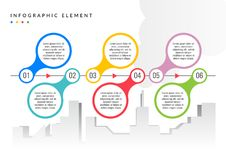 Infographic elementu prosty płaski kolor ilustracji