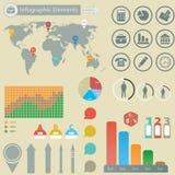 Infographic elementy Obrazy Royalty Free