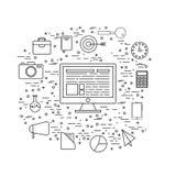 Infographic elementy dla biznesu Zdjęcie Royalty Free