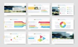 Infographic elementy dla prezentacja szablonów Zdjęcia Stock