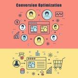 Infographic elementy dla zamiana optymalizacja ilustracja wektor