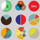 Infographic elementy, pasztetowej mapy ustalona ikona, biznesowi elementy i statystyki, Obrazy Stock