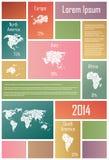 Infographic elementy W prostokątach Zdjęcia Stock