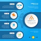Infographic elementy z różnorodnymi ikonami stosownymi dla infographics, prezentacj, etc, Zdjęcia Royalty Free