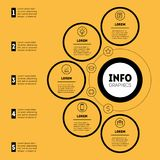 Infographic eller affärspresentation med 5 alternativ Information om vektor Royaltyfri Fotografi