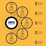 Infographic eller affärspresentation med 5 alternativ Rengöringsduk Templat Royaltyfria Bilder
