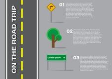 Infographic - en el viaje por carretera Imagen de archivo libre de regalías