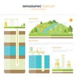 Infographic energie Stock Foto's