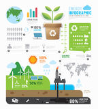 Infographic-Energie-Schablonendesign Konzeptvektor Stockfotografie