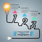 Infographic Entwurf Birne, helle Ikone Stockbild
