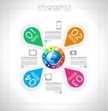 Infographic-Entwurf für Produktklassifizierung Lizenzfreie Stockbilder