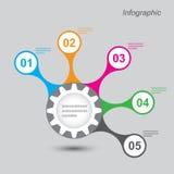 Infographic-Entwurf für Produktklassifizierung Stockfoto