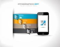 Infographic-Entwurfsschablone mit Papierumbauten. Stockbild