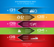 Infographic-Entwurfsschablone mit Papierumbauten Stockbild