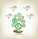 Infographic environment with gears Royalty Free Stock Photo