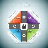 Infographic esquadrado Fotos de Stock