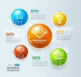 Infographic et boule ou globe Vecteur Image stock