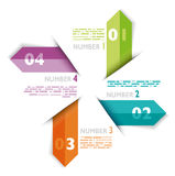 Infographic examples colored bands arrows lines paper Royalty Free Stock Photo