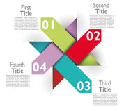 Infographic examples colored bands arrows lines paper Royalty Free Stock Image