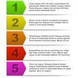 Infographic färglista med vitt kopieringsutrymme royaltyfri illustrationer