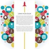 Infographic färgrik symbol royaltyfri illustrationer