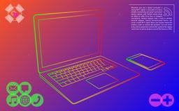 Infographic färgrik vektor för elektronik stock illustrationer