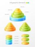 infographic färgrika element vektor illustrationer
