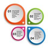 infographic färgrika element royaltyfri illustrationer