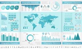 Infographic för IT-bransch beståndsdelar Royaltyfria Foton