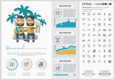 Infographic för lopplägenhetdesign mall Royaltyfri Foto