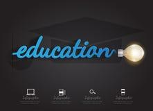 Infographic för utbildningsbegrepp Royaltyfria Bilder