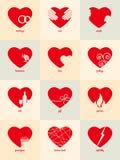 Infographic för valentin dag Royaltyfria Foton