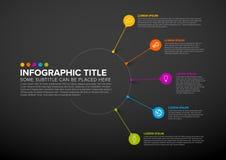 Infographic för vektor mall som kan användas till mycket Royaltyfri Foto